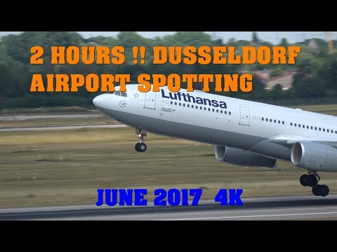 2 Hours !! Dusseldorf Airport Spotting 4K June 2017