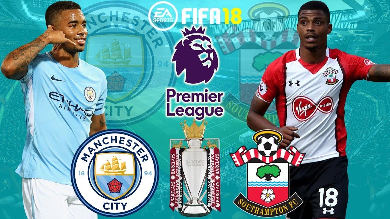 Fifa 18 Manchester City Vs Southampton Premier League 2017 18 Prediction Gameplay Youtube