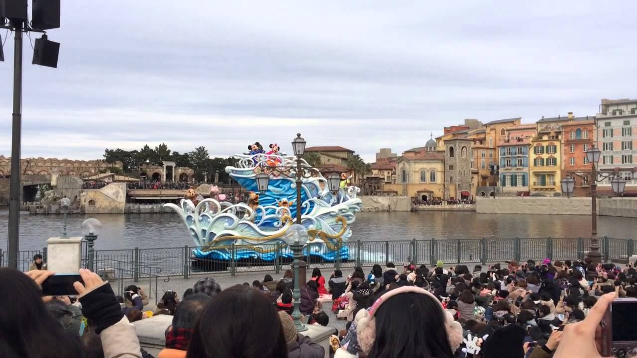 New Years Greeting At Tokyo Disneysea For 2015 Youtube