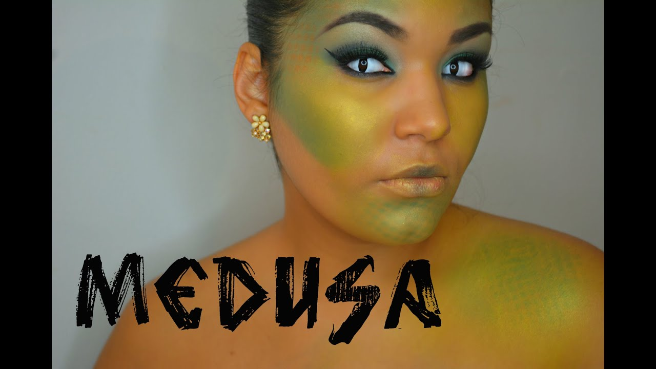 Halloween Tutorial: Medusa Makeup - YouTube