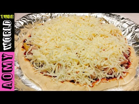 Making Extra Cheese Toppings Pizza