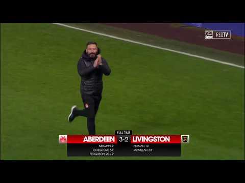 FULL TIME REPORT   Aberdeen 3-2 Livingston
