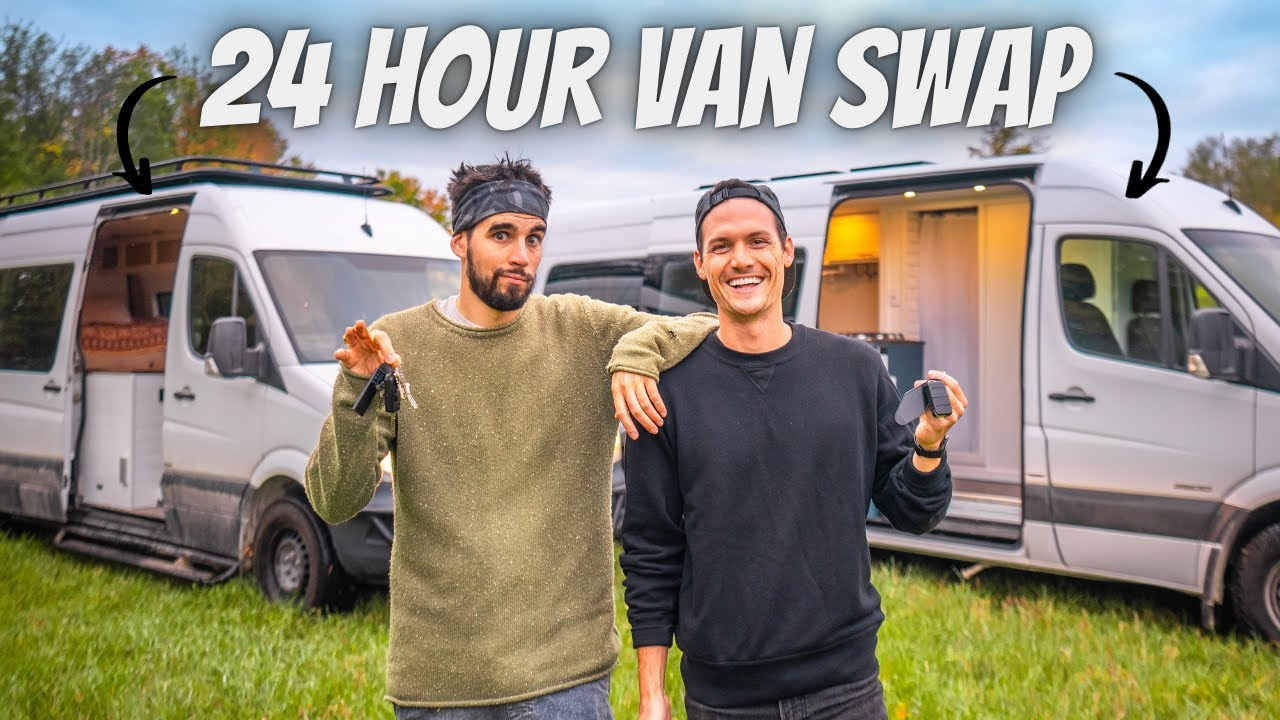 Download WE TRADED VANS FOR 24 HOURS (whose tiny home on wheels is better?)
