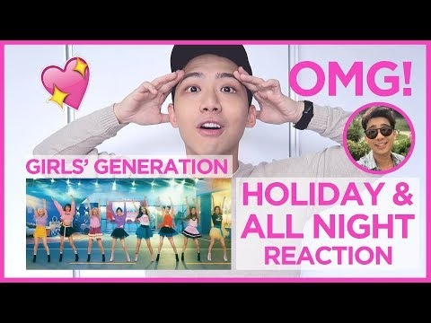 Thumbnail: Girls' Generation 소녀시대_Holiday & All Night Music Video REACTION!!