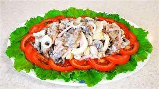 Праздничный салат на скорую руку. Сочный, очень вкусный!