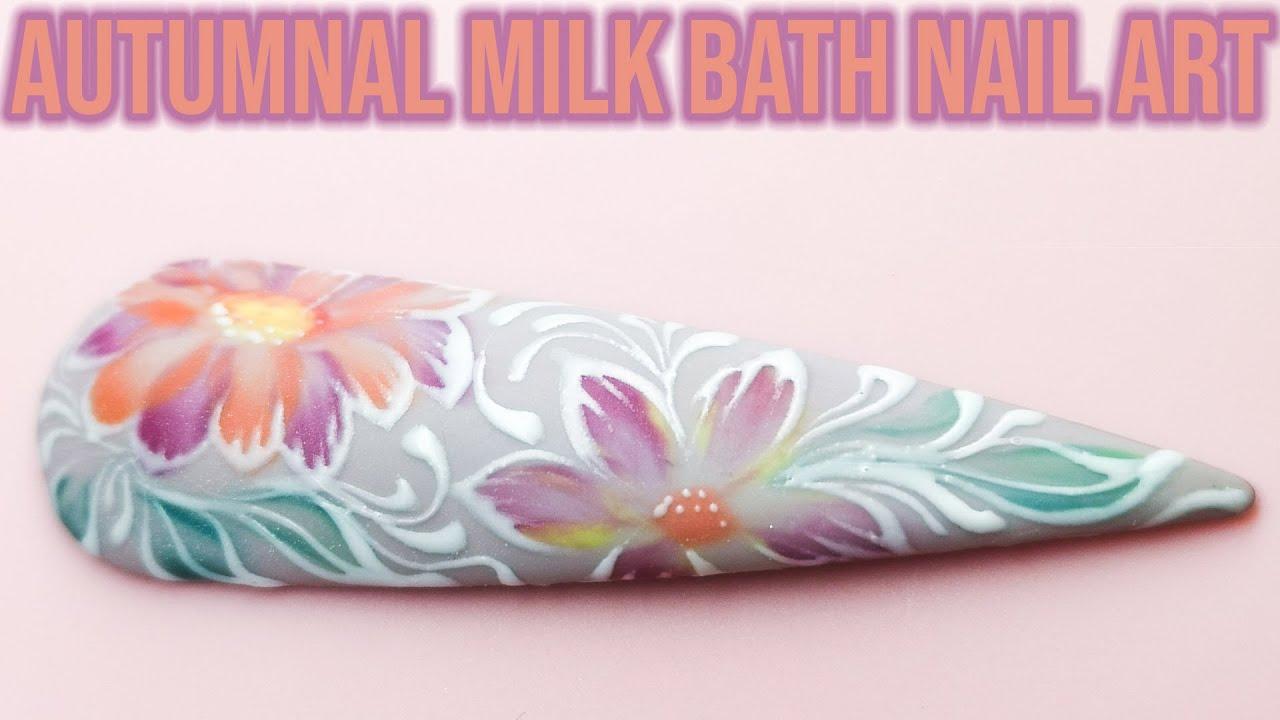 Autumn Milk Bath Nail Art with Epic Fillagree