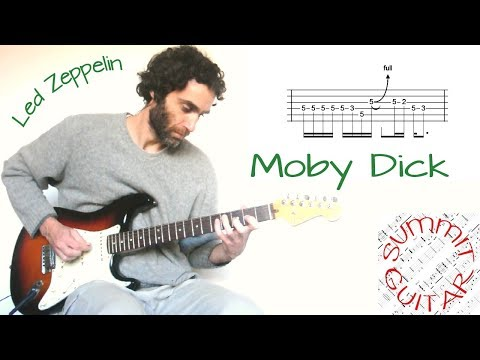 Led Zeppelin - Moby Dick - Guitar lesson / tutorial with tablature