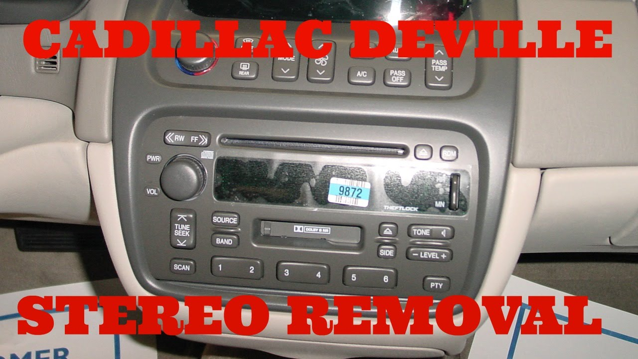 maxresdefault cadillac deville stereo removal youtube 2000 cadillac deville radio wire harness at readyjetset.co