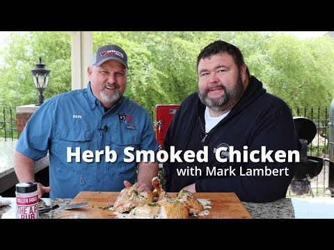 Herb Smoked Chicken | Smoked Whole Chicken Recipe on Red Box Smoker