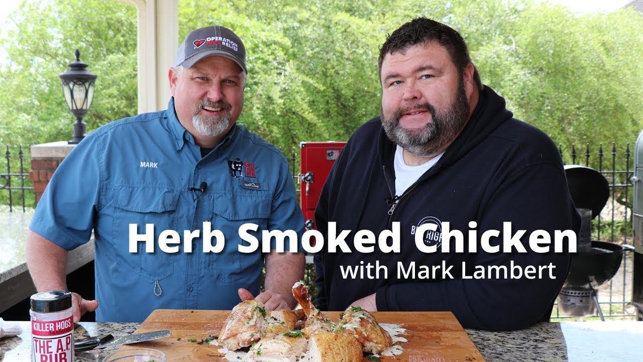 Herb Smoked Chicken | Smoked Whole Chicken Recipe on Red Box Smoker