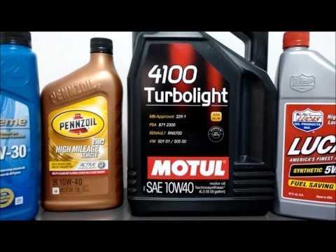 Características y diferencias entre aceite de motor Mineral, Semi-sintético y Sintético