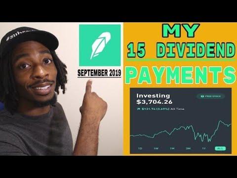 Robinhood | My Dividend Payments | September 2019