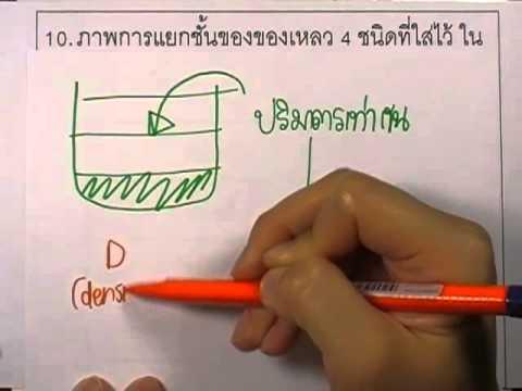 ข้อสอบO-NET ป.6 ปี2552 : วิทย์ ข้อ10