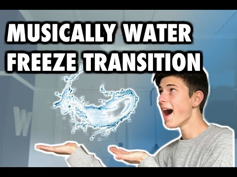MUSICALLY WATER-FREEZE TRANSITION || Connor Weyer