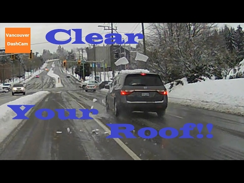 Terrible Drivers of Vancouver - February Snow Storm!