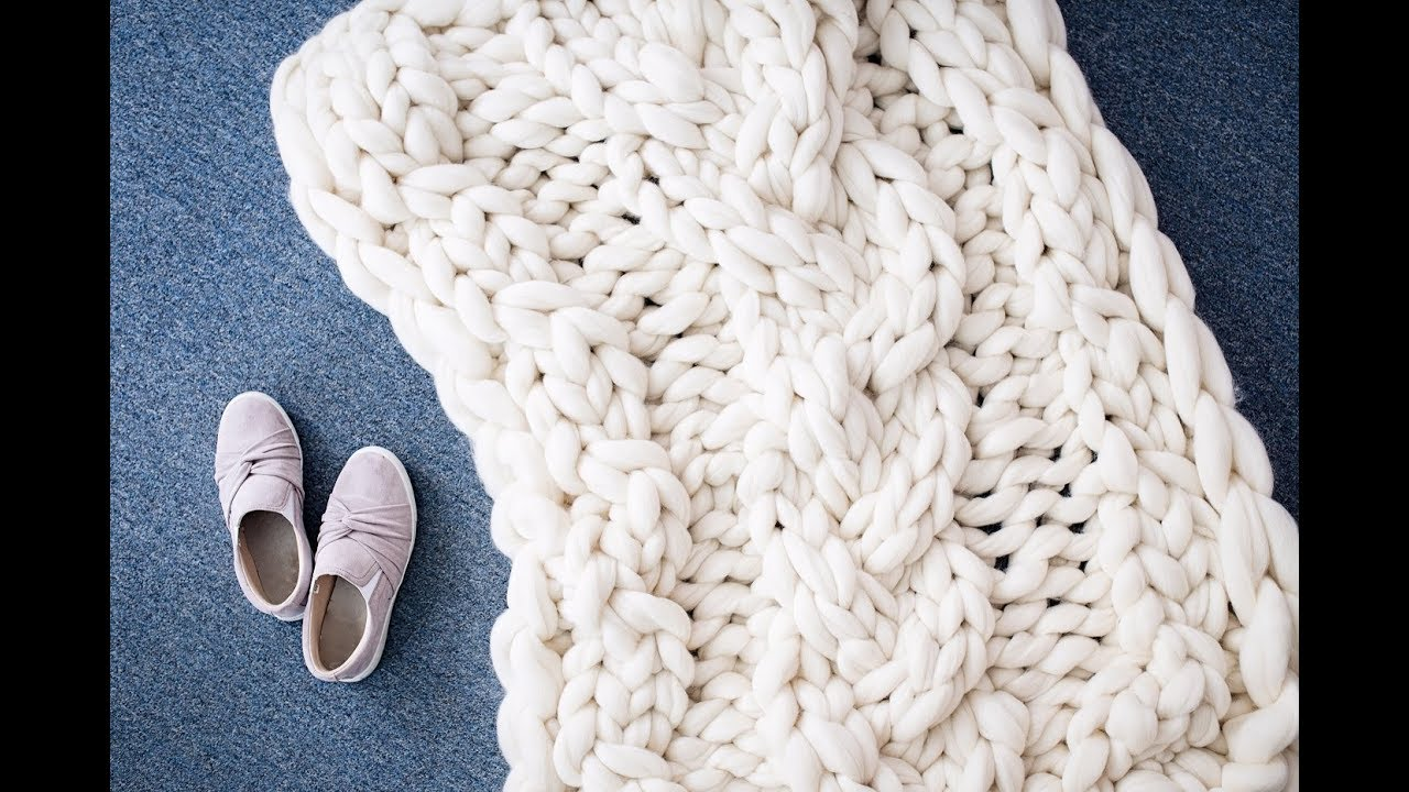 b5612213b86dcc HOW TO HAND KNIT CABLE KNIT MERINO BLANKET - YouTube