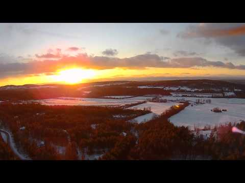 Sunset Fly in Vermont