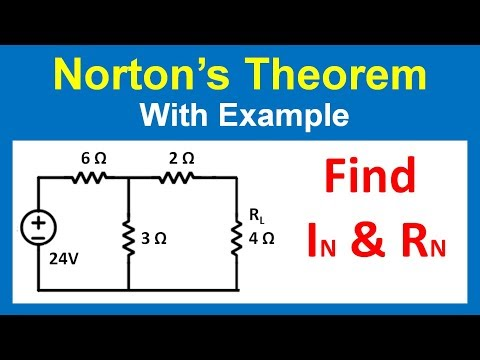 Norton's Theorem With Example In Hindi -
