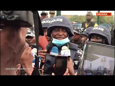Amidst Heavy Police Presence Yoruba Nation Agitators Holds Rally In Lagos
