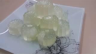 Longan Konnyaku Jelly  Homemade Recipe Simple &amp Easy