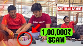 Jash Scammed Chotulal 1,00,000₹ In Tiktok Glass Game😱 #shorts