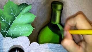 Roniel Coimbra – pintura em tecido garrafa parte 2
