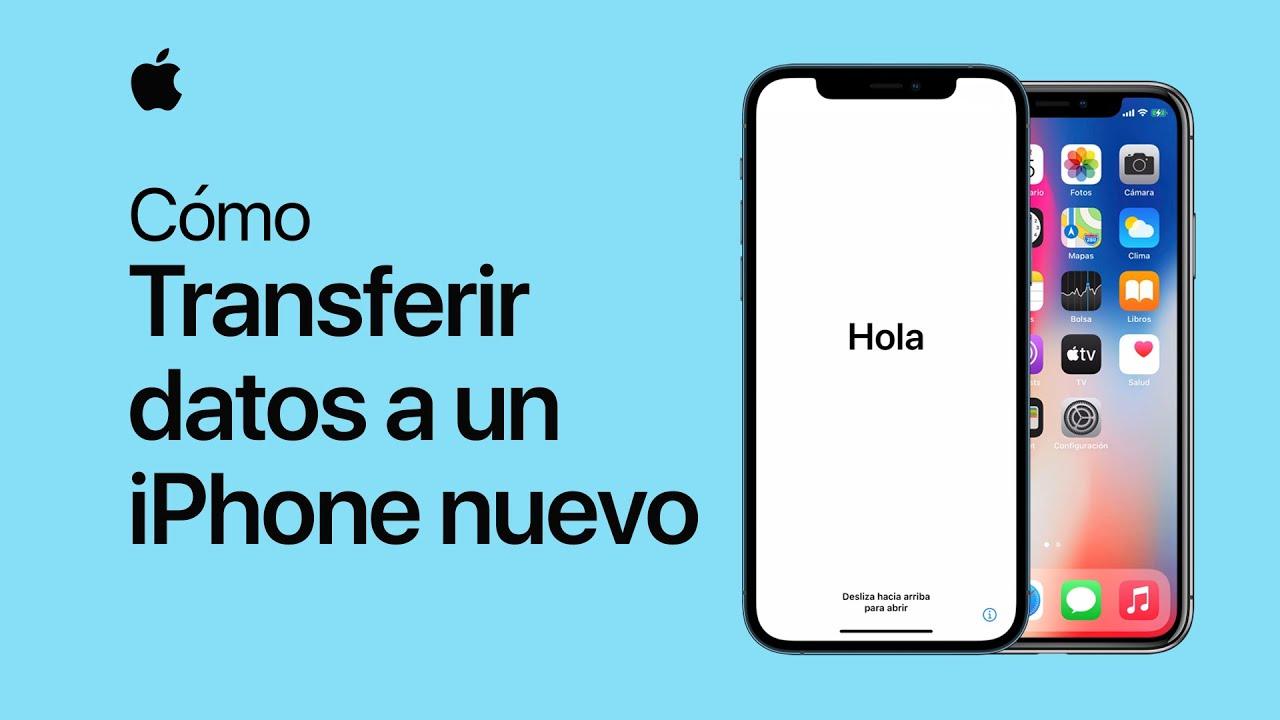 Cómo transferir datos de un iPhone anterior a uno nuevo – Soporte técnico de Apple