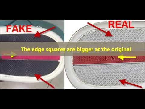 Real Vs Fake Prada Shoes. How To Spot Fake Prada Sneakers And Footwear