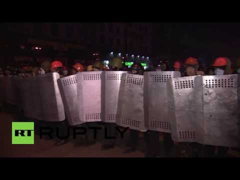 Ukraine:  Police block protesters attempts to storm Dynamo Kyiv's stadium