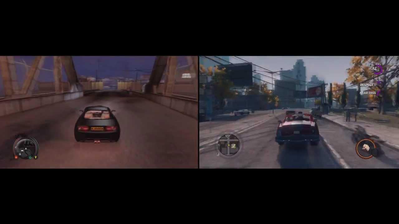sleeping dogs vs saints row 3 driving comparison youtube