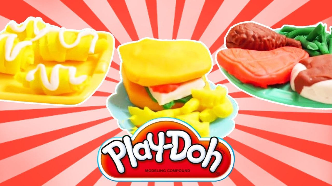 Play-Doh kitchen food creations. - YouTube