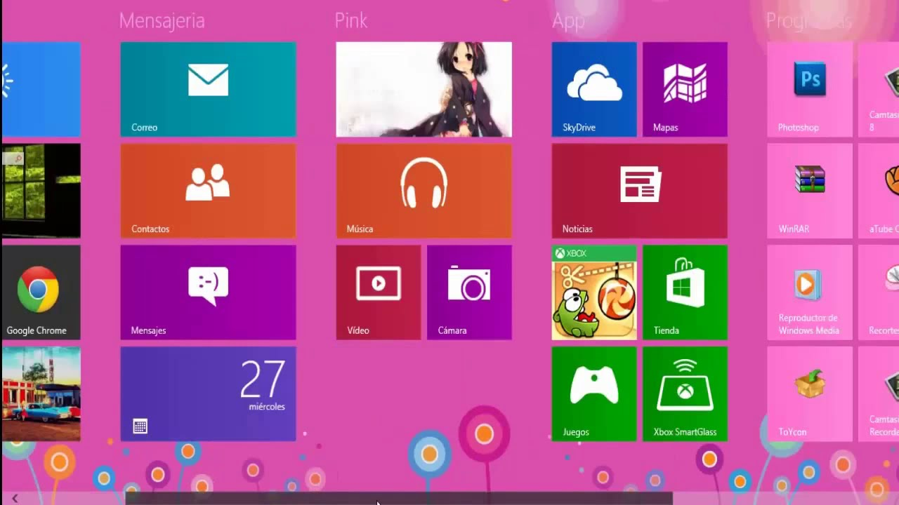 Windows 10 como poner un fondo de pantalla con for Protector de pantalla en movimiento