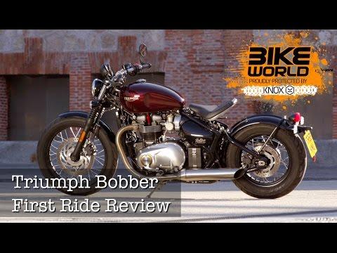 2017 Triumph Bonneville Bobber First Ride Review (Bike World)
