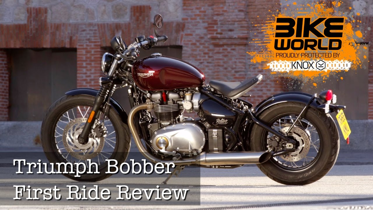 2017 triumph bonneville bobber first ride review (bike world