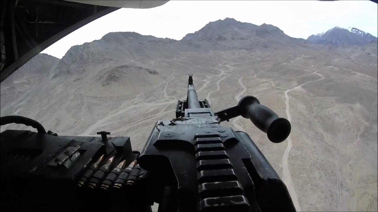 M240 Machine Gunner Raining Freedom Over Afghanistan from a Phrog