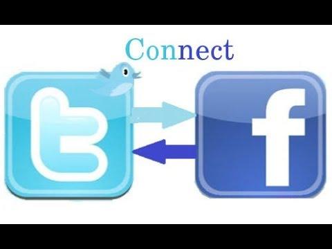 Cara menghubungkan facebook dengan twitter menggunakan hp Android.