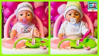 Куклы Беби Борн в коляске. Беби Борн Кушают Играют Видео для детей как мама Baby Born
