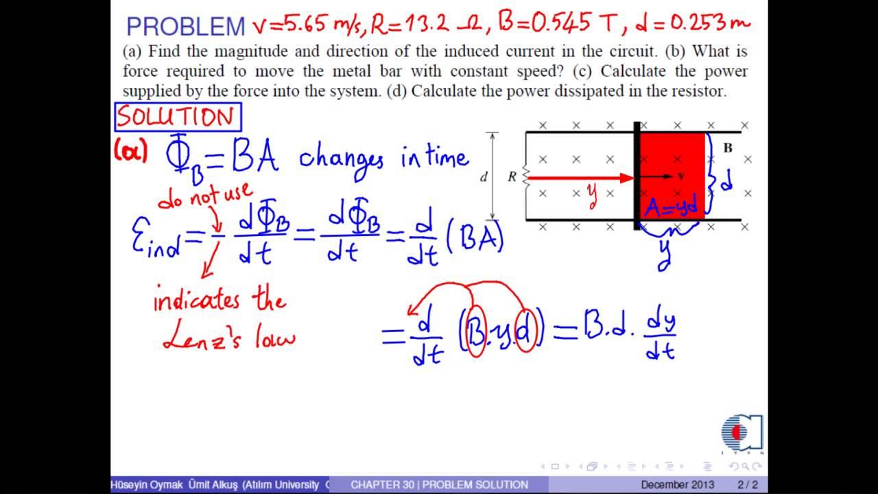 chapter 30 - problem 02 - motional emf - a thorough analysis