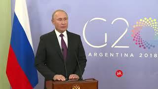 Путин о геноциде русского народа. О войне с Украиной. G20 Аргентина 2018