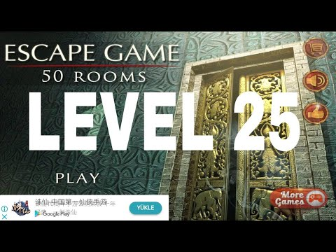 Escape Game 50 Rooms 1 Level 25 Walkthrough Youtube