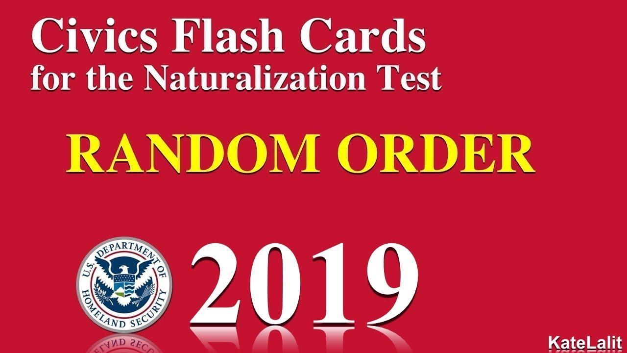 US Citizenship/Naturalization Test Questions in Random ...