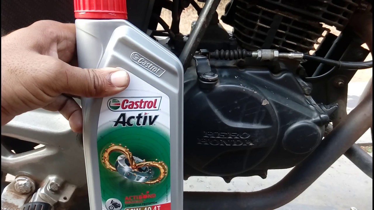 How To Change Engine Oil Of Your Motorcycle Youtube