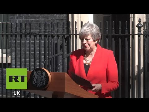WATCH: Theresa May announces resignation