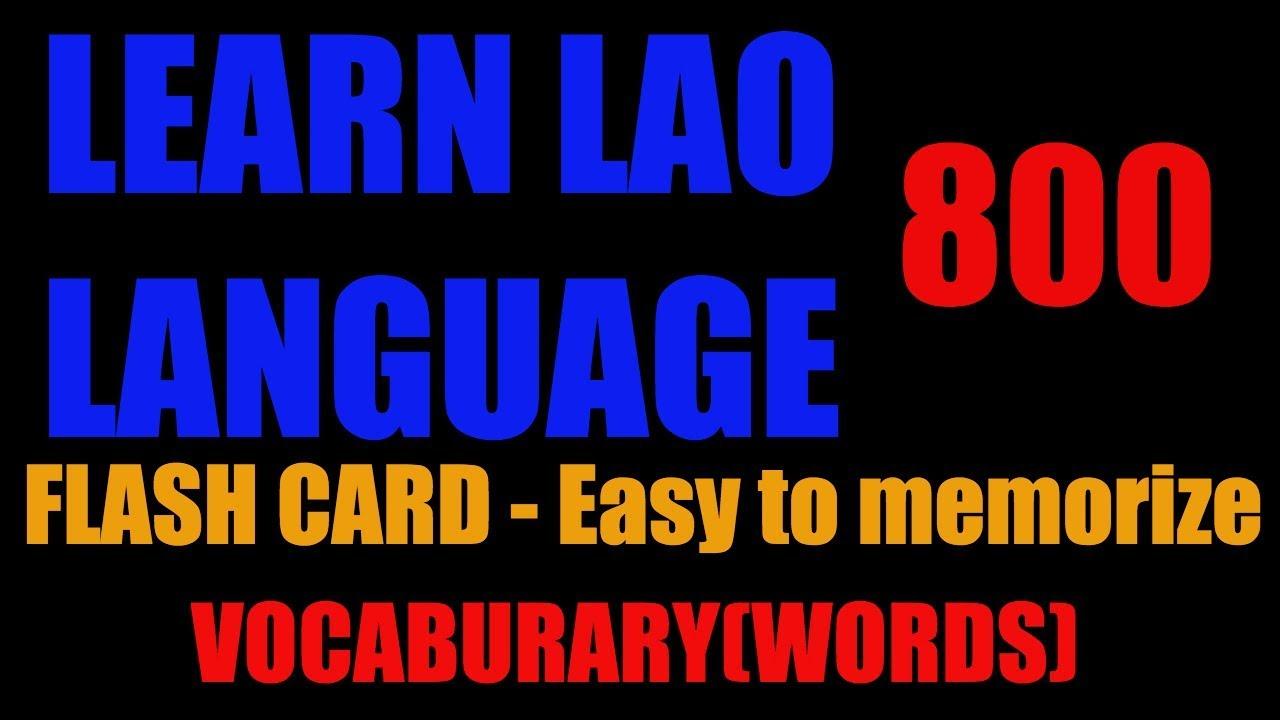 Learn Lao Language 101 Vocabulary 800