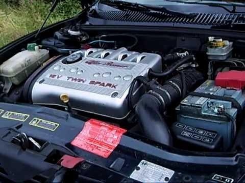 Alfa Romeo 156 20 16v TwinSpark stock engine noise  YouTube