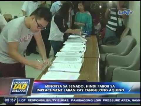Minorya sa Senado hindi pabor sa impeachment laban kay Pres. Aquino