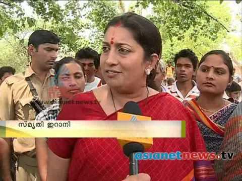 India Election 2014 : Smriti Irani speaks on Asianet News