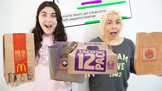 I LET MY NUMBER NEIGHBOR DECIDE WHAT WE EAT FOR 24 HOURS