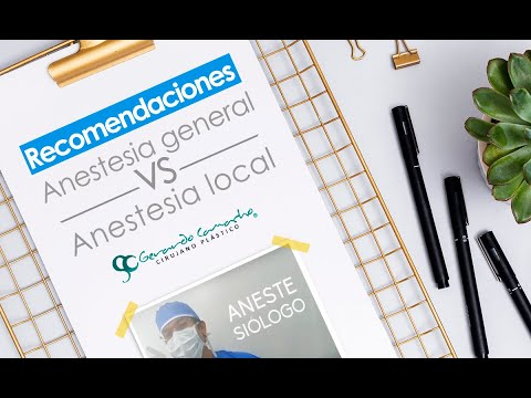 ¿Anestesia general Vs Anestesia local en procedimientos de Cirugía Plástica?