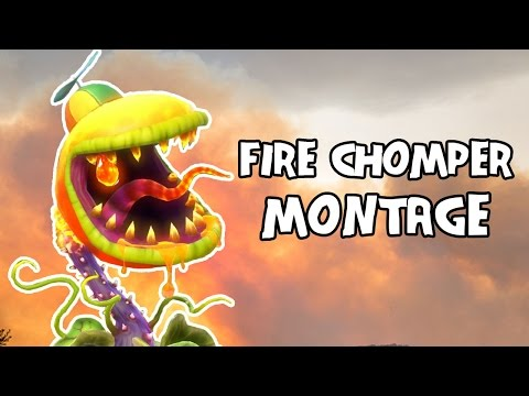 Fire Chomper Montage | Plants vs. Zombies: Garden Warfare